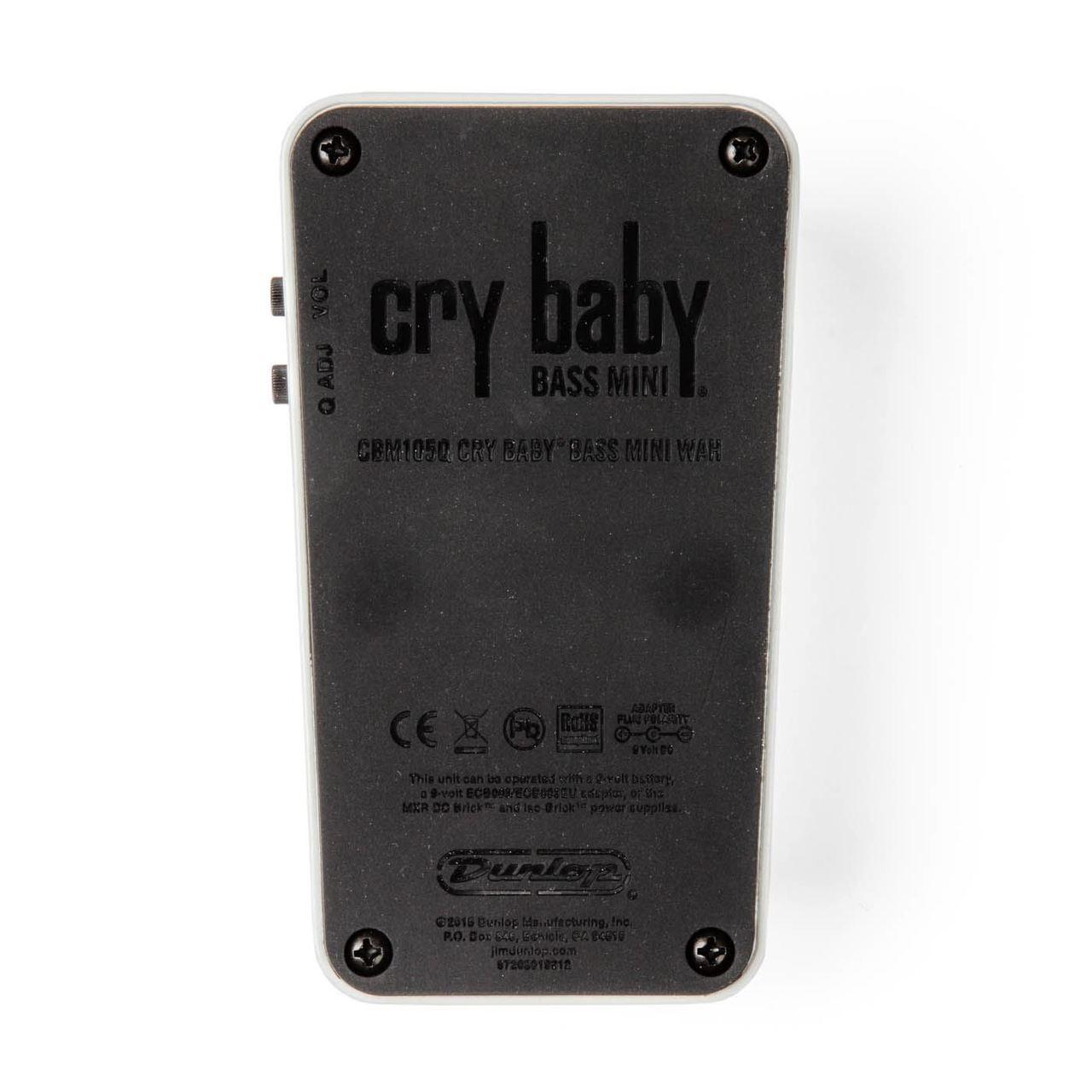 Dunlop CBM105Q Cry Baby Bass Mini Wah pedal