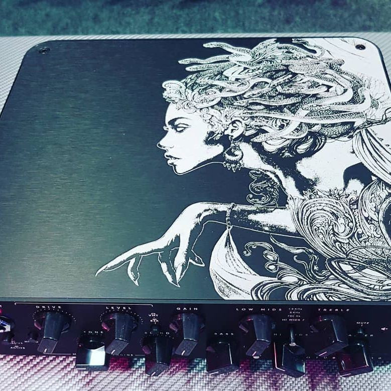 d88e15b8ab1 Medusa graphics Darkglass Electronics Microtubes 900 Bass Amplifier -  limited ed. Medusa graphics