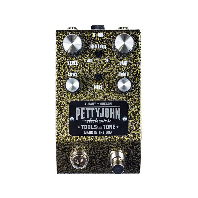 Pettyjohn Electronics Foundry Series Gold Overdrive pedal