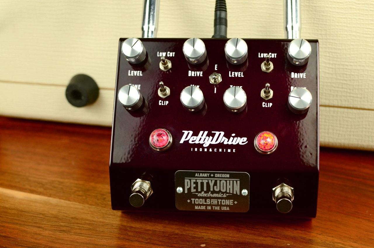 Pettyjohn Electronics Signature Collection PettyDrive Iron & Chime V2 Overdrive pedal