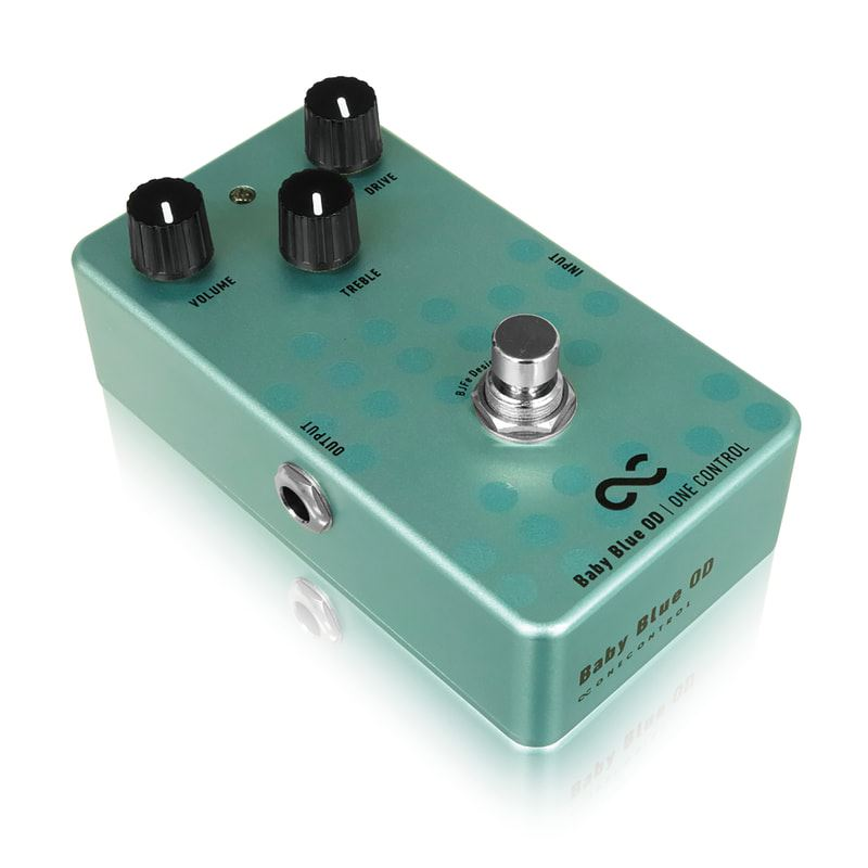 One Control BJF Baby Blue Overdrive pedal