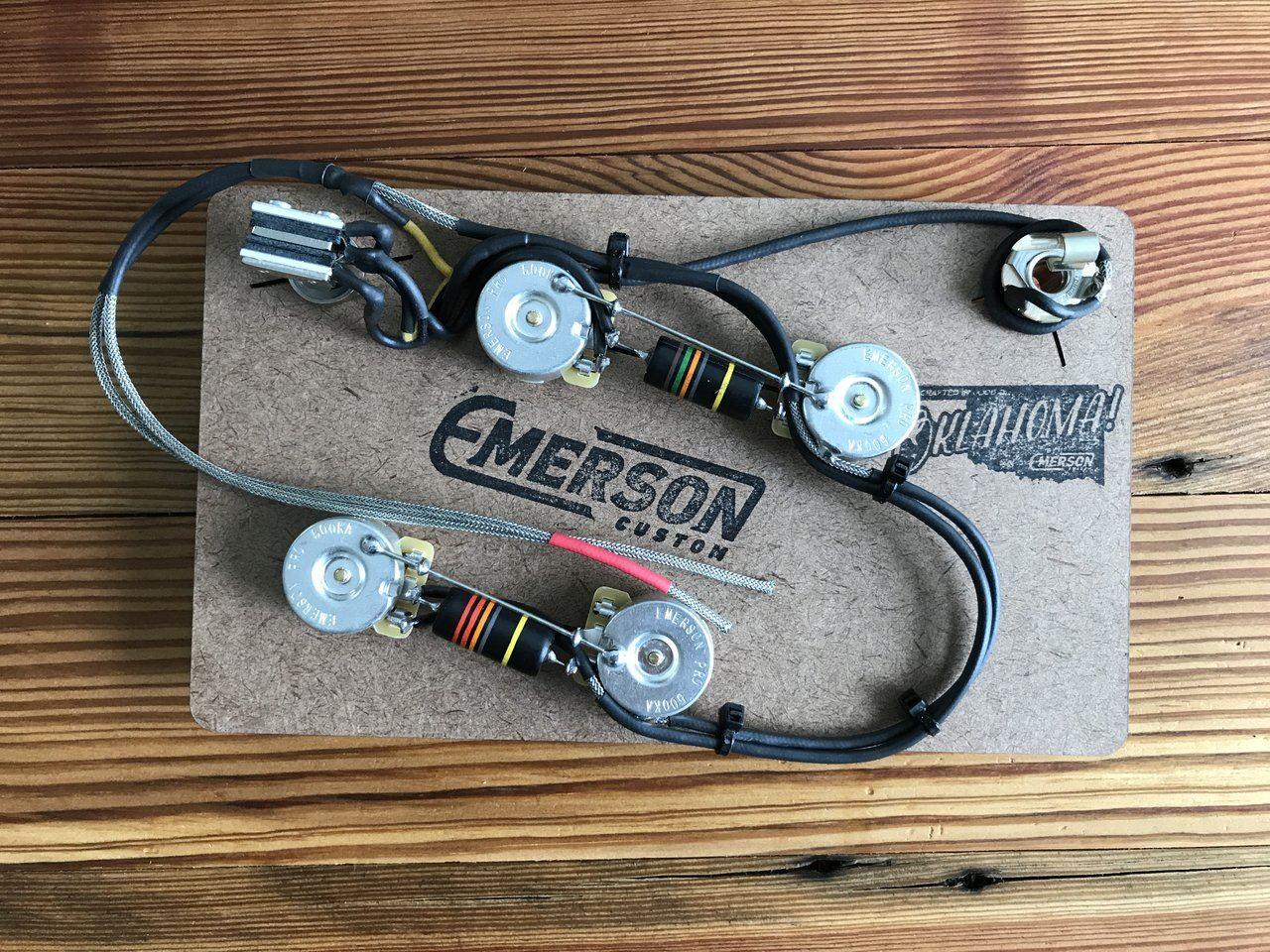 emerson custom es 335 prewired kit 500k pots