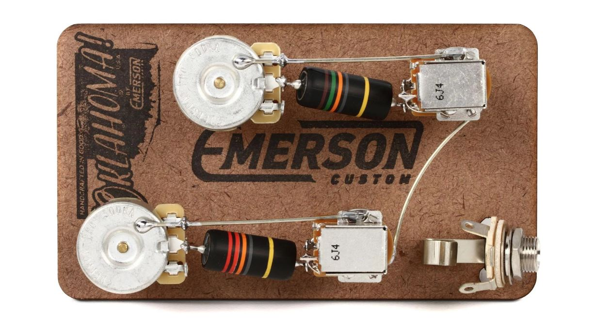 Emerson Custom Les Paul Prewired Kit - Push / Pull Long Shaft 500k Pots