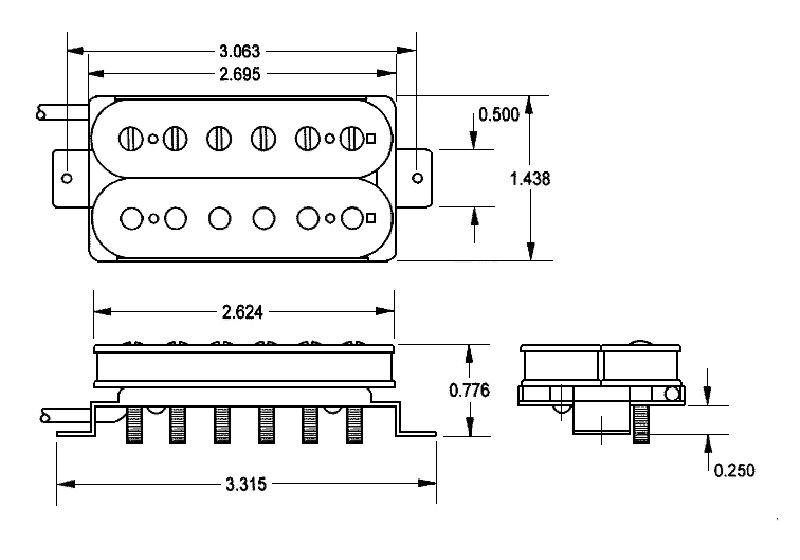 Seymour Duncan Alnico II Pro Slash APH-2 Humbucker Pickup Set - raw nickel