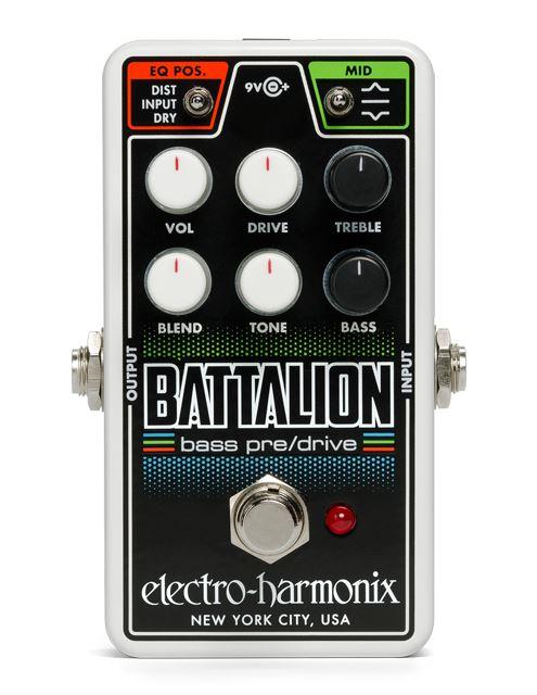 Electro-Harmonix Nano Battalion Bass Preamp / Overdrive pedal