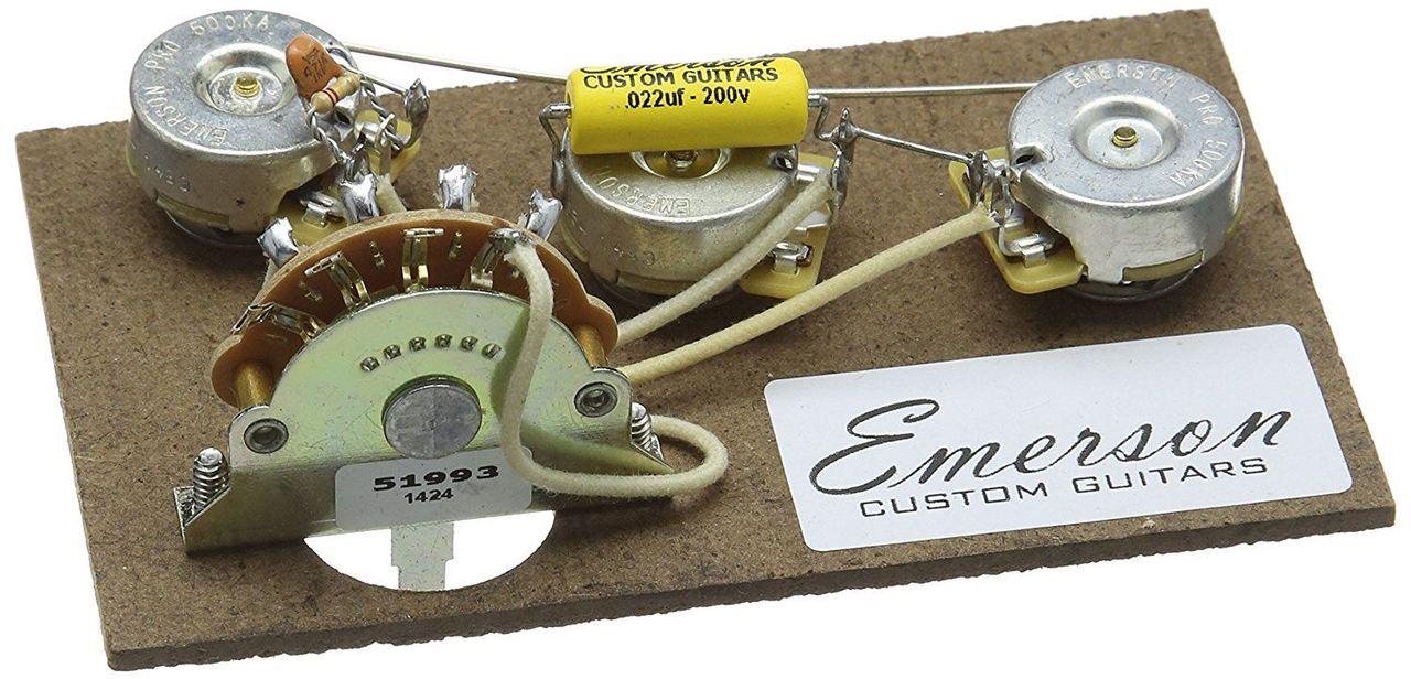 Emerson Custom Strat 5-Way Prewired Kit - 500k pots - open box