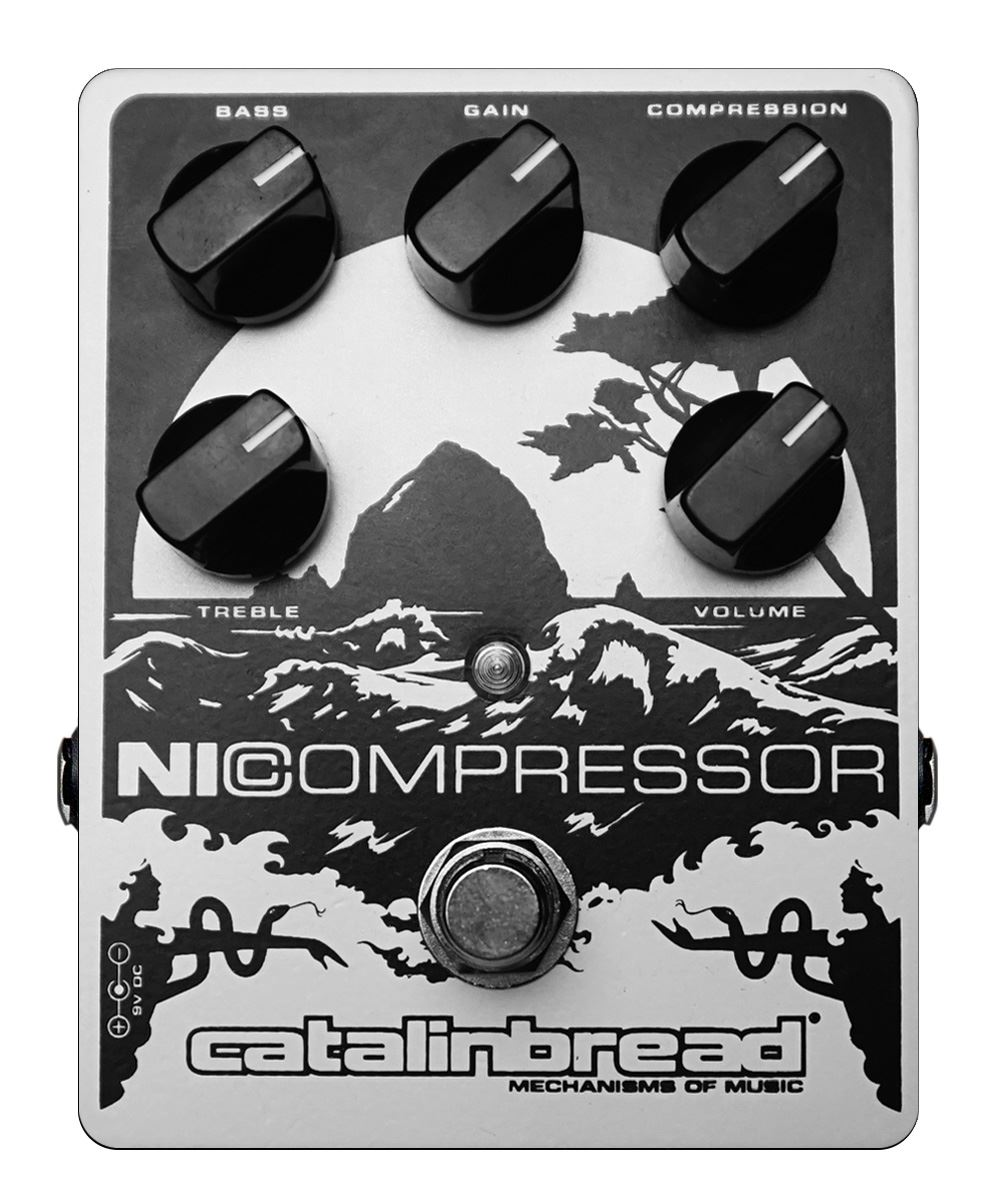 Catalinbread Nicompressor Compressor pedal - soft pearl finish
