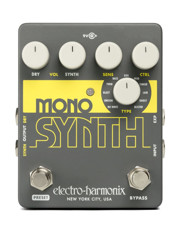 Guitar Synth Pedal >> Electro Harmonix Mono Synth Guitar Synth Pedal Macdaddy Music