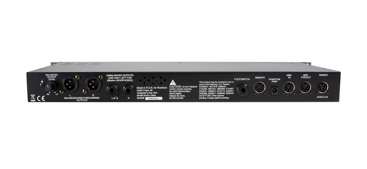 Rocktron Voodu Valve LTD Tube Guitar Preamp & DSP Effects Processor