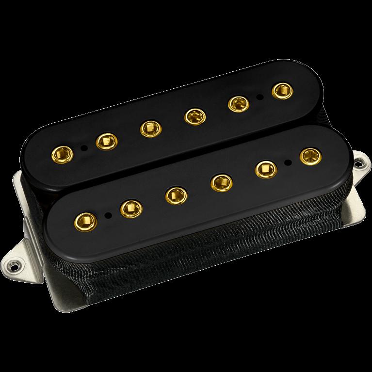 DiMarzio DP285 Igno F-Spaced Bridge Humbucker - black / gold pole pieces
