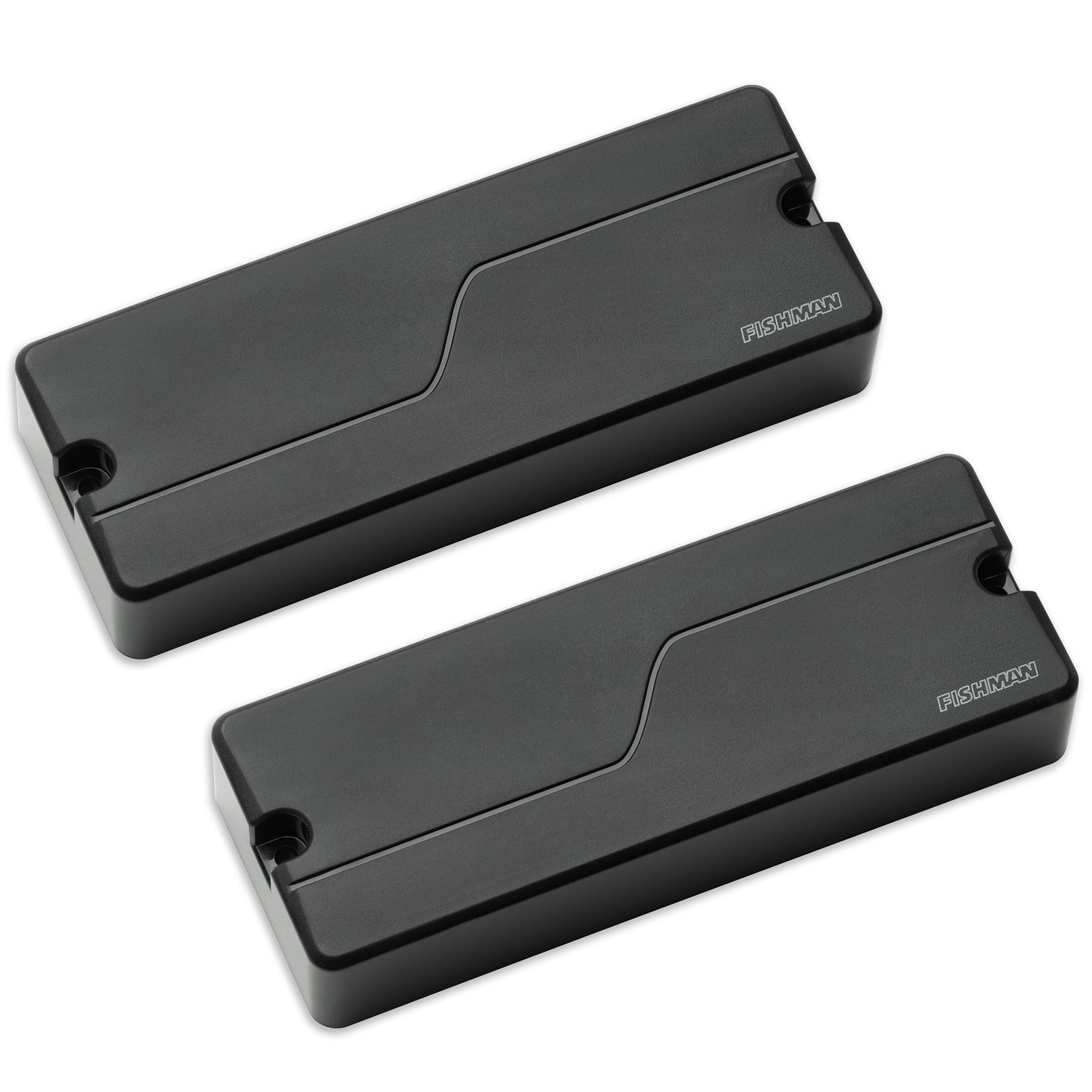 Fishman Fluence Bass 5-String String Soapbar Pickup Set & Preamp - black
