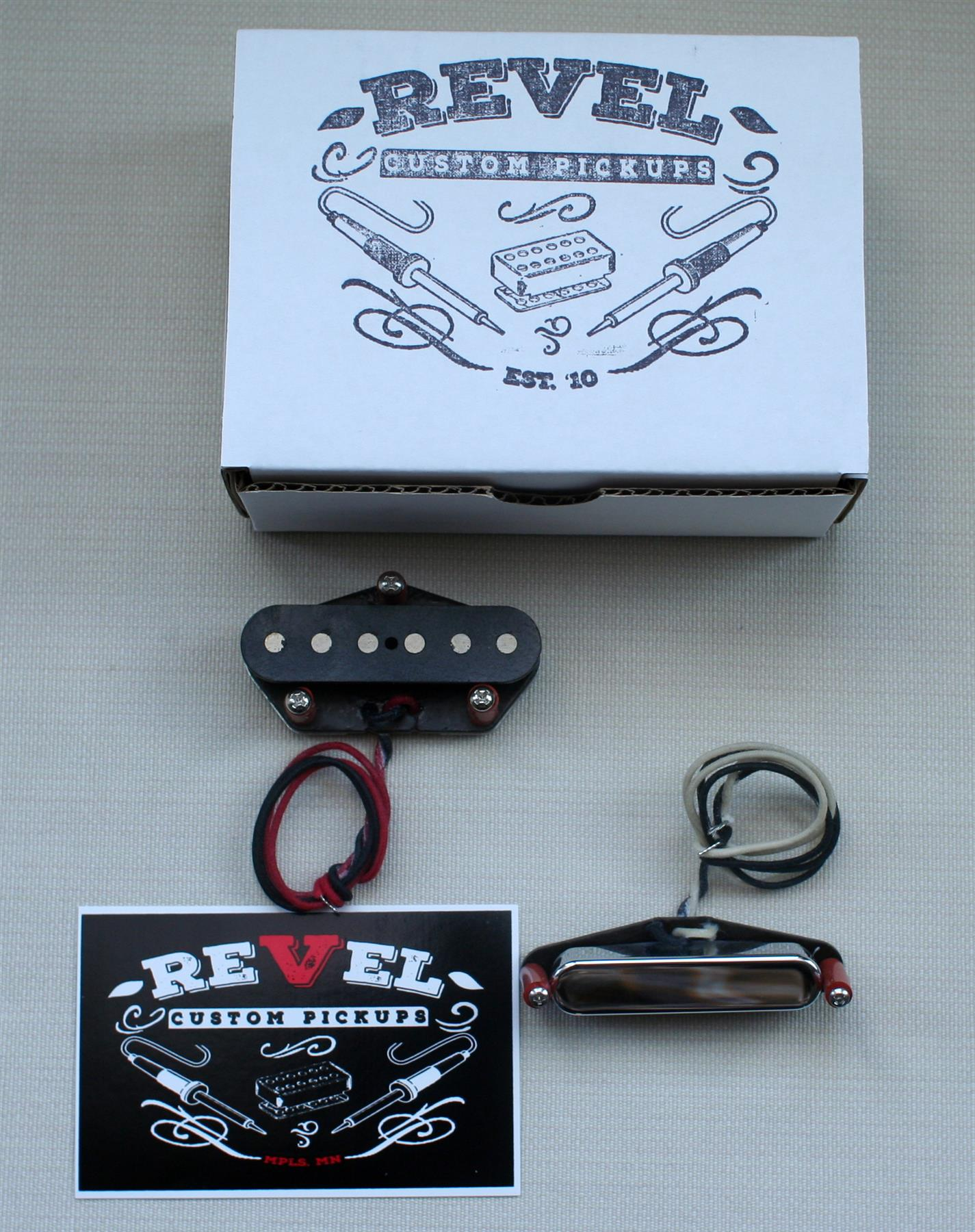 Revel Custom Black Watch Telecaster pickup set