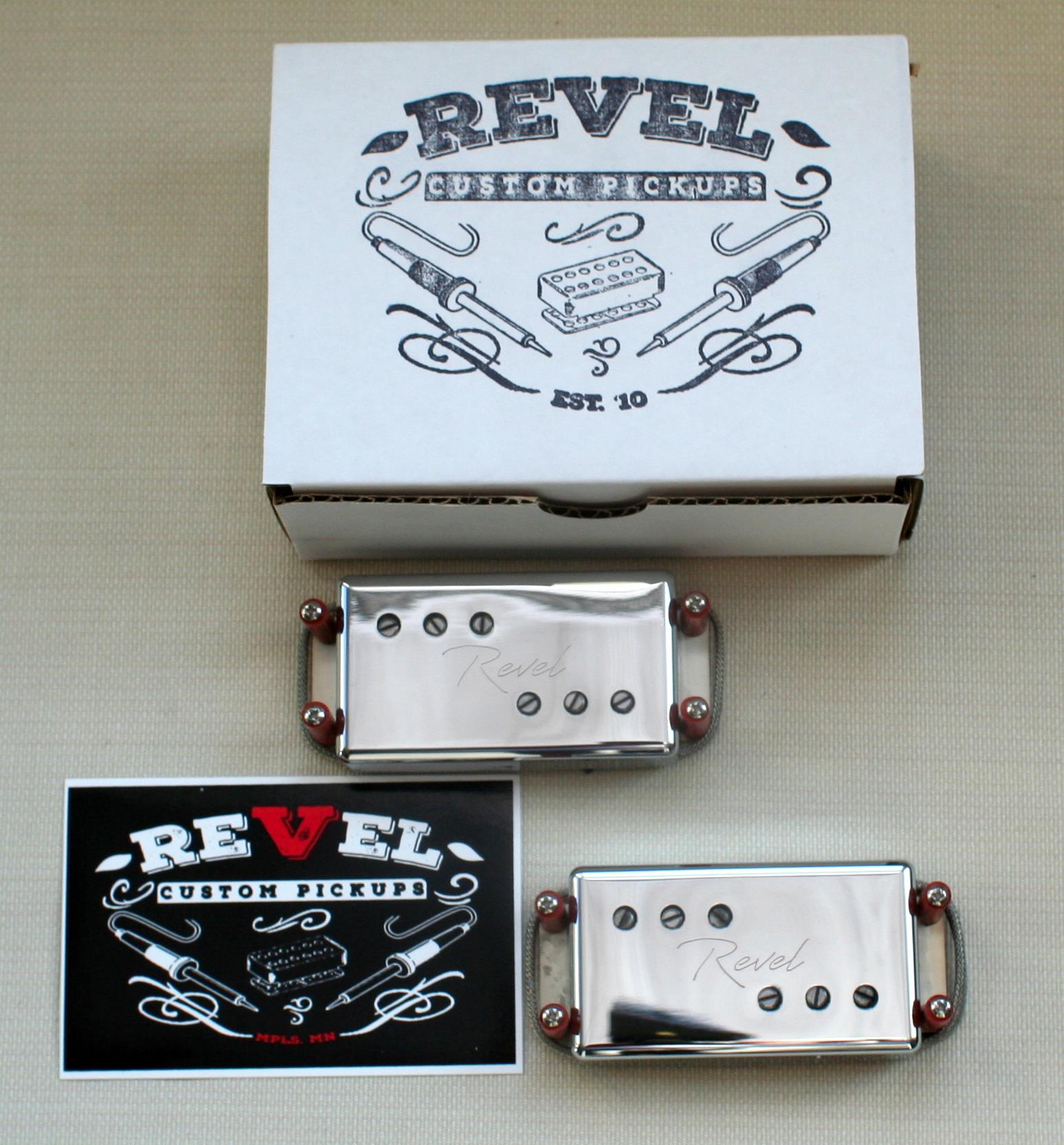 Revel Custom Vintage '72 Wide Range Humbucker pickup set - nickel