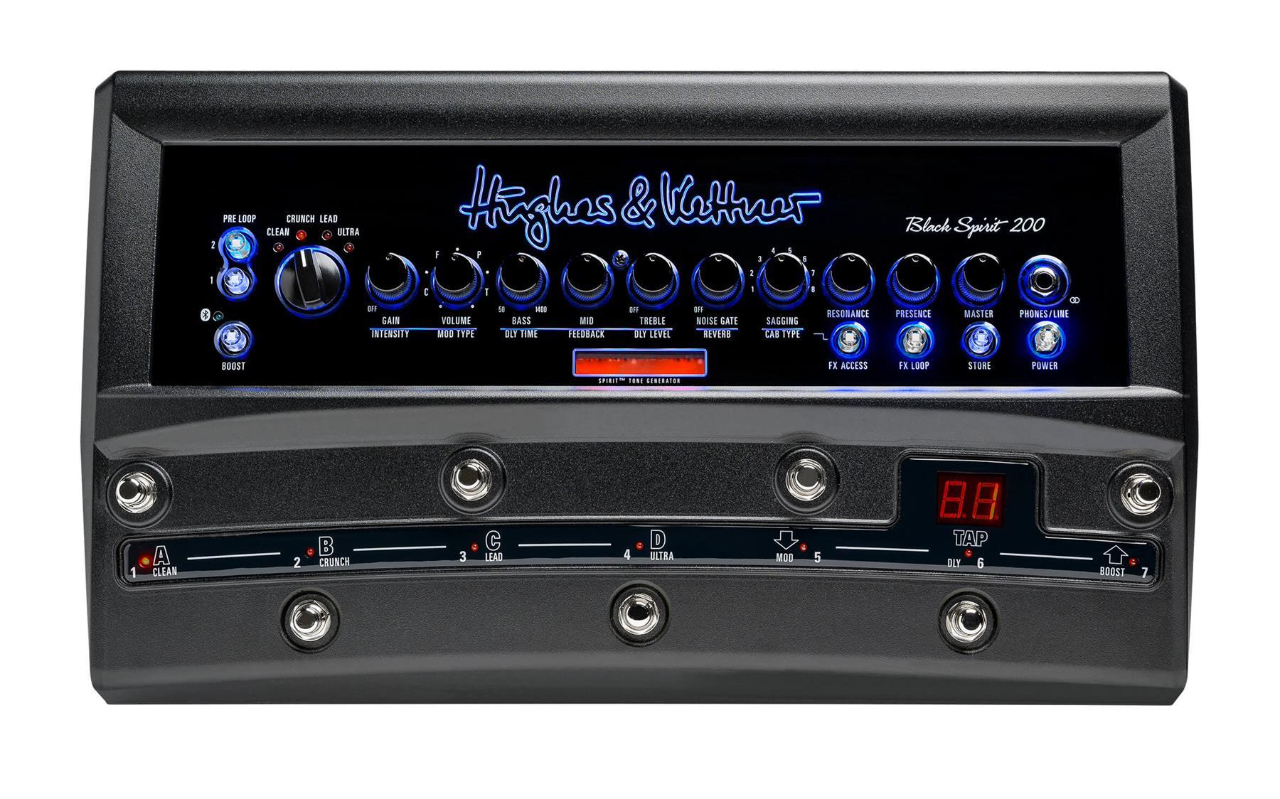 Hughes & Kettner Black Spirit 200 Floor Amplifier w/ DSP & Integrated Switcher