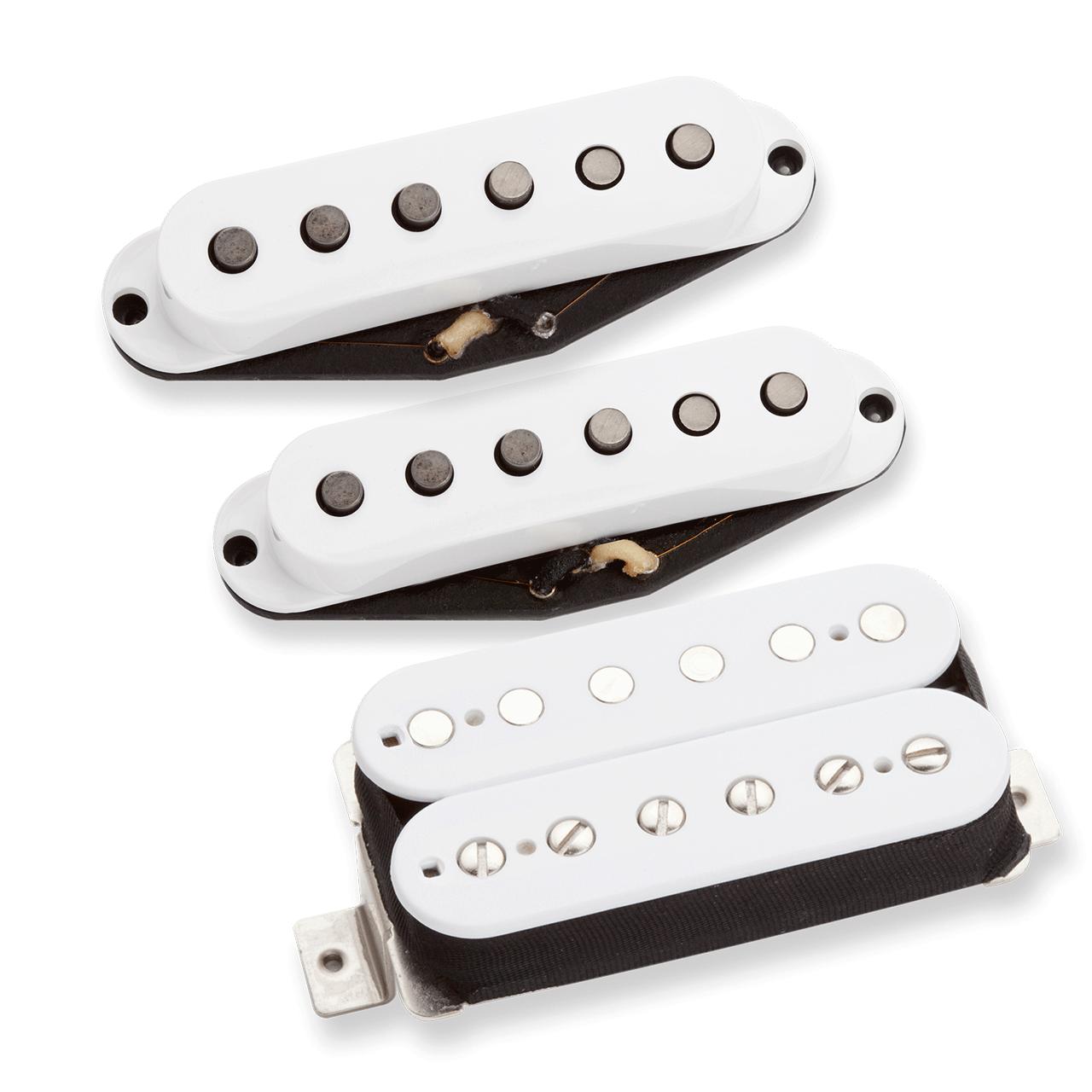 Tonerider Alnico II HSS Pickup Set - white, F-Spaced bridge