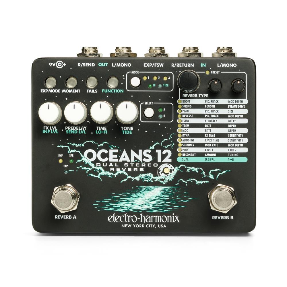Electro-Harmonix Oceans 12 Dual Stereo Reverb pedal