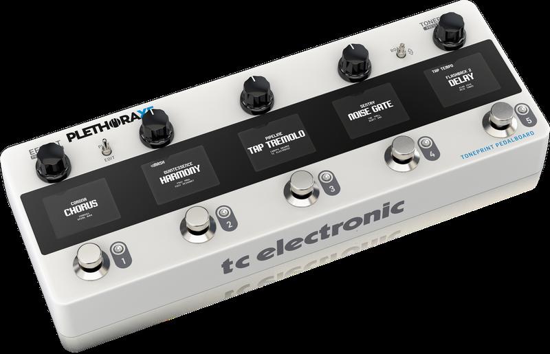 TC Electronic Plethora X5 Toneprint Multi-Effects Pedal board