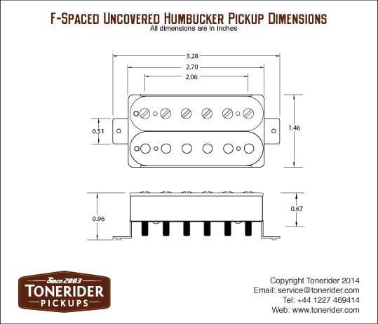 Tonerider Rocksong TRH1 Modern Neck Humbucker - white