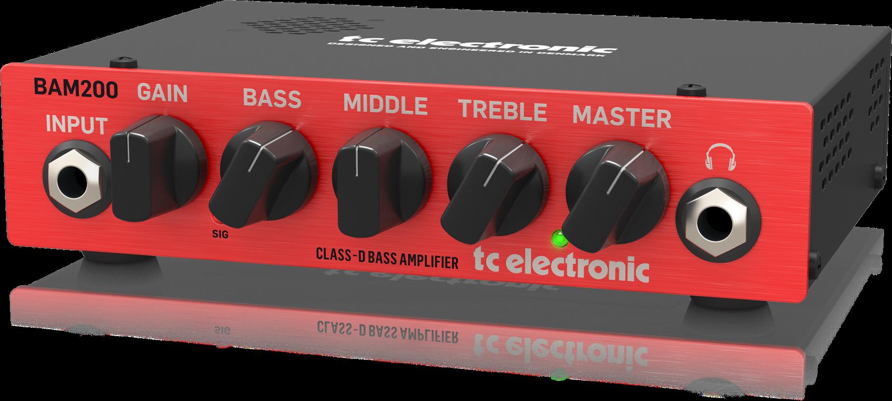 TC Electronic BAM-200 Ultra-Compact 200 Watt Class-D Bass Head