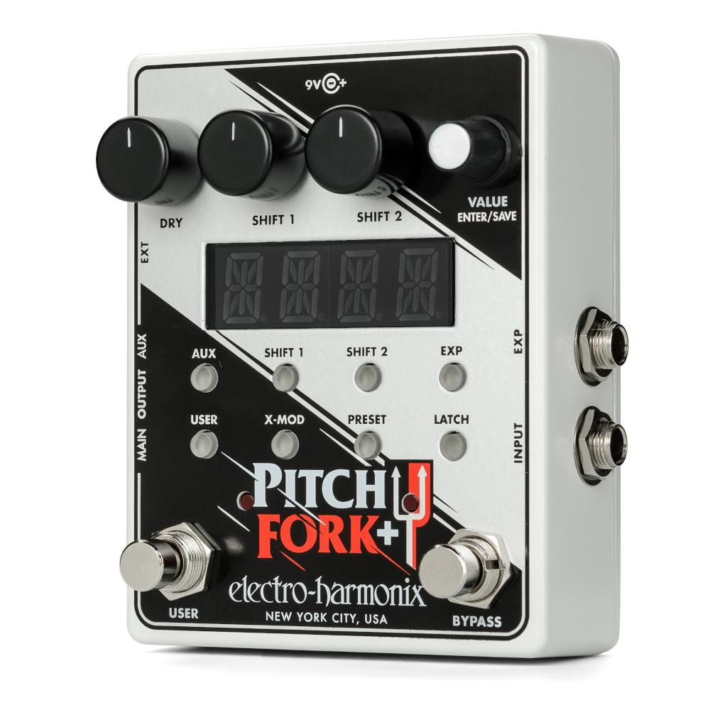 Electro-Harmonix Pitch Fork + Dual Voice Polyphonic Pitch Shifter pedal