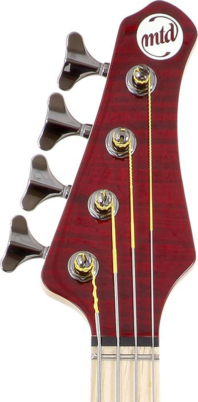 MTD Kingston Artist 4 String Bass Guitar - Translucent Cherry, Maple Fretboard