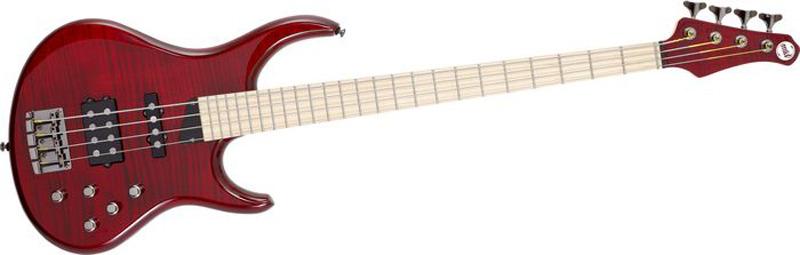 MTD Kingston Heir 4 String Bass Guitar - Translucent Cherry, Maple Fretboard