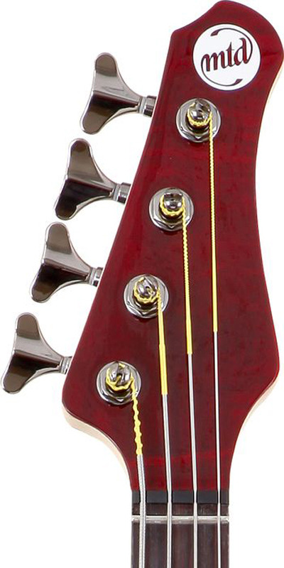MTD Kingston Heir 4 String Bass Guitar - Translucent Cherry, Rosewood Fretboard