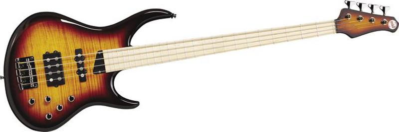 MTD Kingston Heir 4 String Bass Guitar - Tobacco Sunburst, Maple Fretboard
