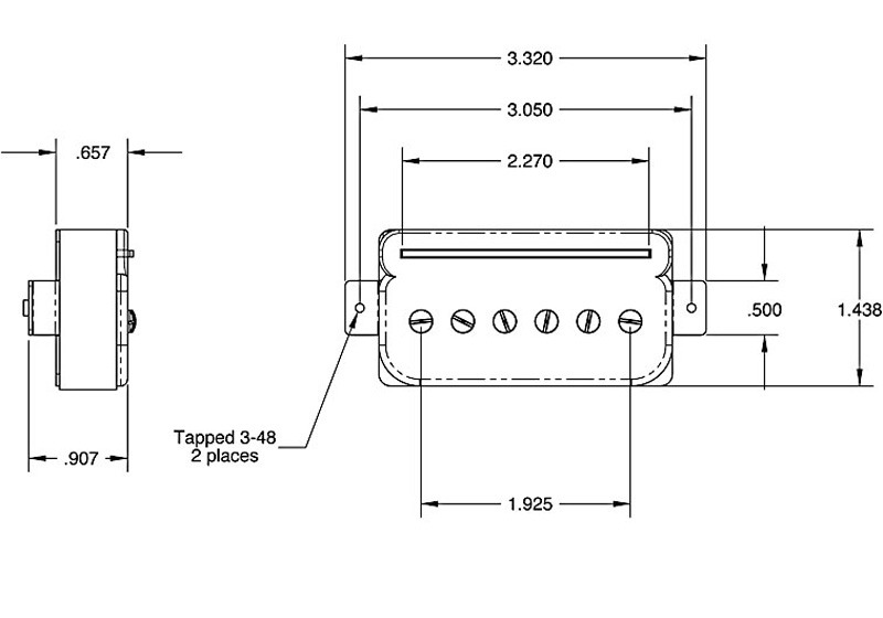 Seymour Duncan SHPR-2 P-Rails Hot Bridge Humbucker -  black