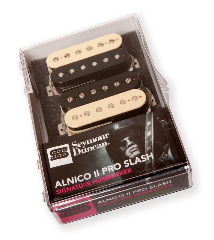 seymour duncan alnico ii pro slash aph-2 humbucker pickup set -  zebra/reverse zebra - macdaddy music