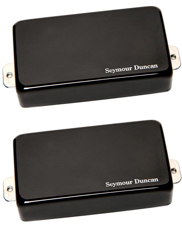 Seymour Duncan AHB-1 Blackouts Active Humbucker Set - black chrome