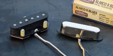 Tonerider Alnico II Blues Telecaster Pickup set Chrome