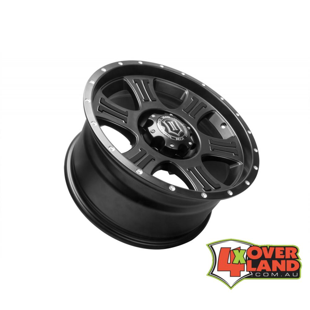 "17"" Shield Wheels Satin Black Finish Toyota"