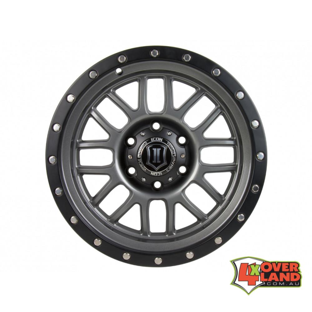 """17"""" Alpha Wheels GunMetal Finish Ford"""