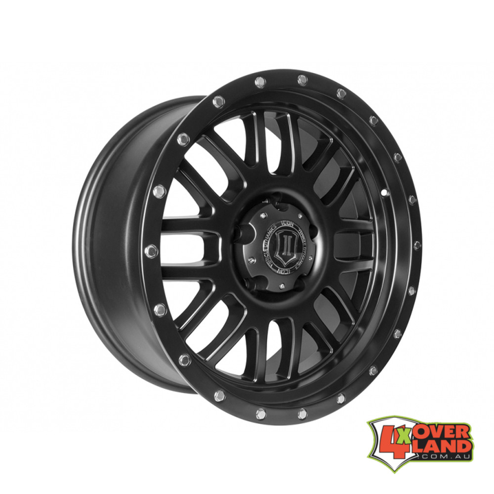 "20"" Alpha Wheels Satin Black Finish for RAM"