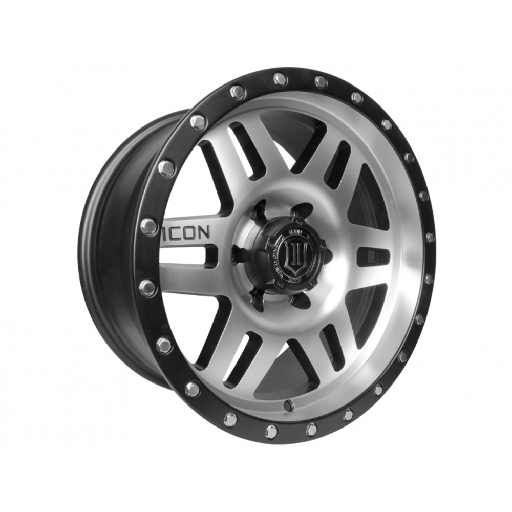 """17"""" Six Speed Wheels Black & Machined Finish for Ford"""