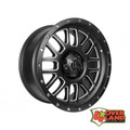 "20"" Alpha Wheels Satin Black w/Milled Windows for RAM"