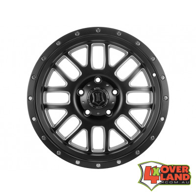 "20"" Alpha Wheels Satin Black w/Milled Windows for F250"