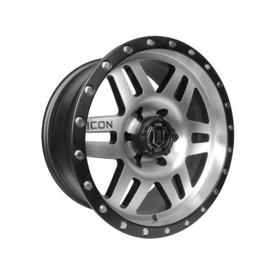 "17"" Six Speed Wheels Black & Machined Finish for Ford"
