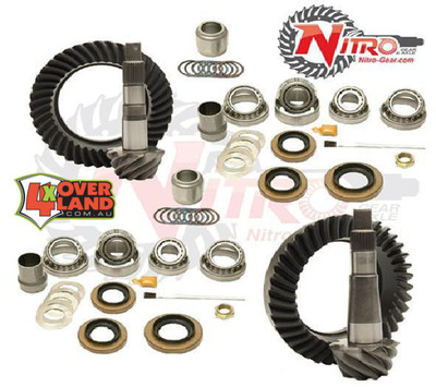 Toyota FJ Cruiser 4.88 Ratio, Nitro Ring & Pinion with OEM REAR E-locker, 4.88 Ratio, Nitro Front & Rear Gear Package Kit