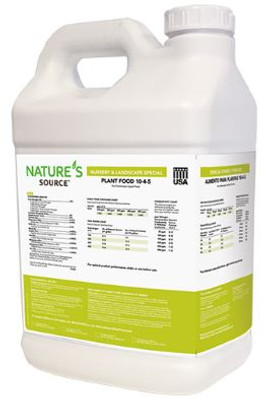 NATURE'S SOURCE 10-4-5 NURSERY SPECIAL PLANT FOOD, 2 x 2.5 GAL