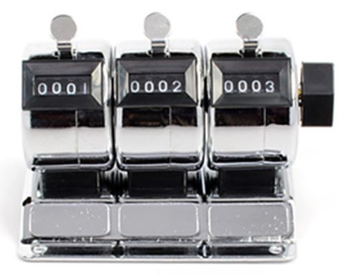 3--4 DIGIT TALLY COUNTERS IN ONE, STEEL CASES, MOUNTABLE