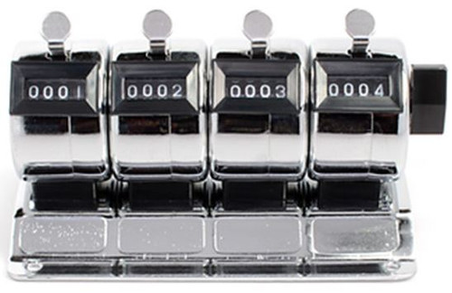 4--4 DIGIT TALLY COUNTERS IN ONE, STEEL CASES, MOUNTABLE