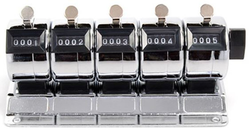 5--4 DIGIT TALLY COUNTERS IN ONE, STEEL CASES, MOUNTABLE