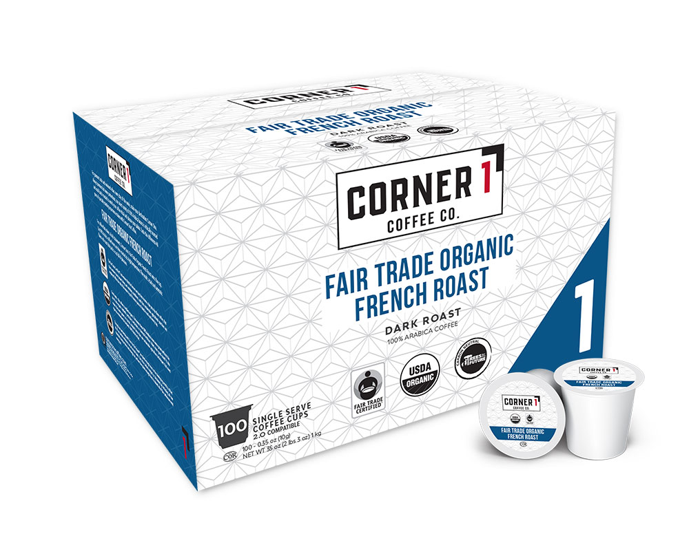 Fair Trade Organic French Roast Single Serve Coffee - 100 ct