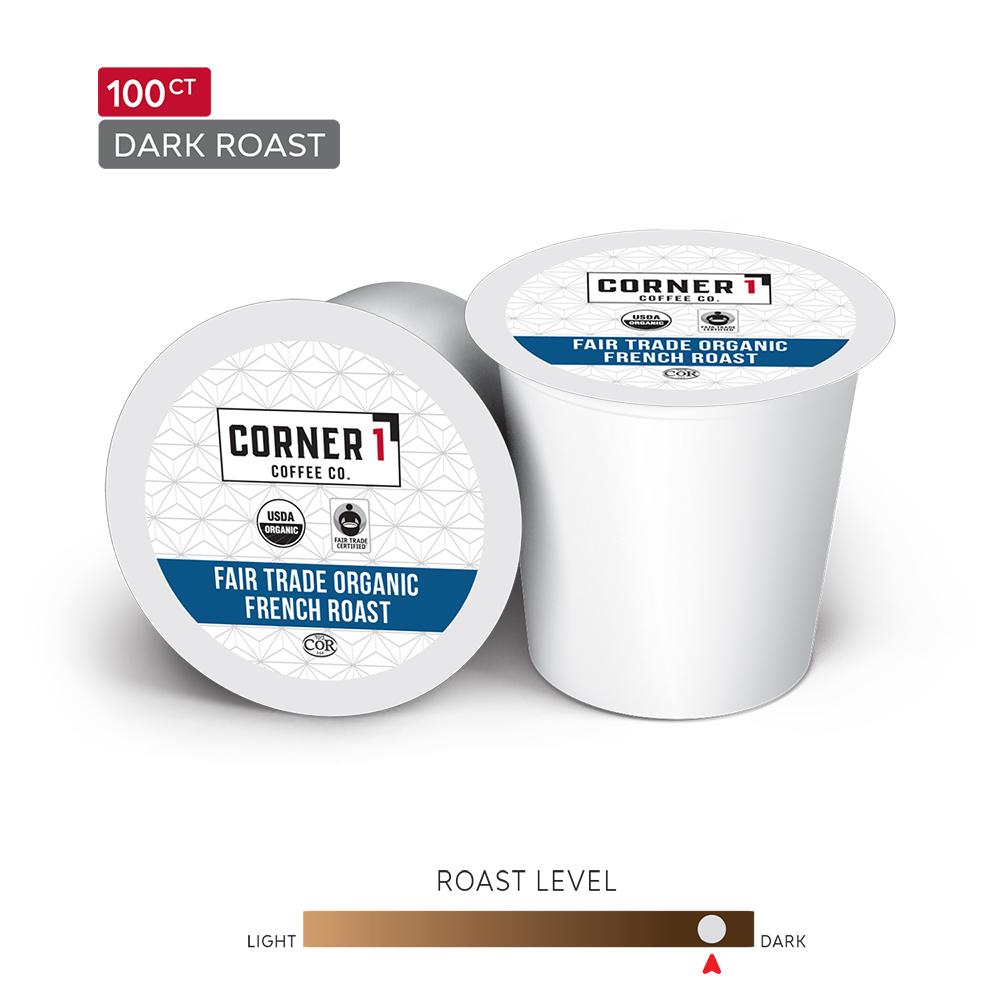 Fair Trade Organic French Roast Single Serve Coffee - 100 ct