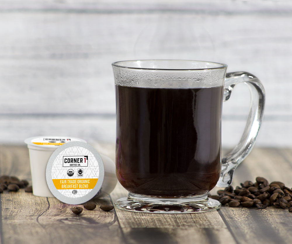 Fair Trade Organic Breakfast Blend Single Serve Coffee - 100 ct
