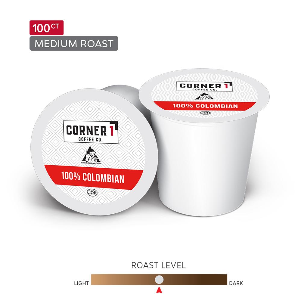 100% Colombian Single Serve Coffee - 100 ct