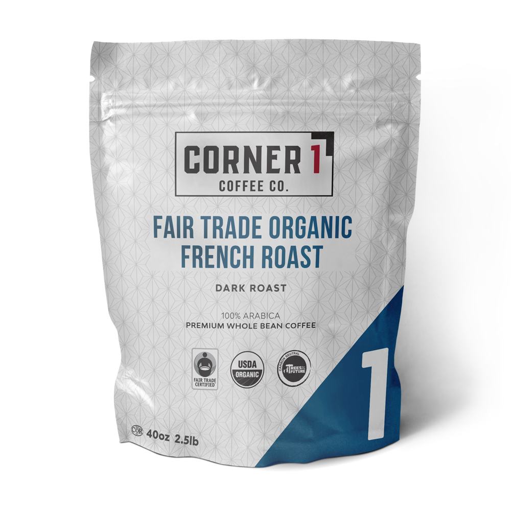 Fair Trade Organic French Roast Whole Bean Coffee