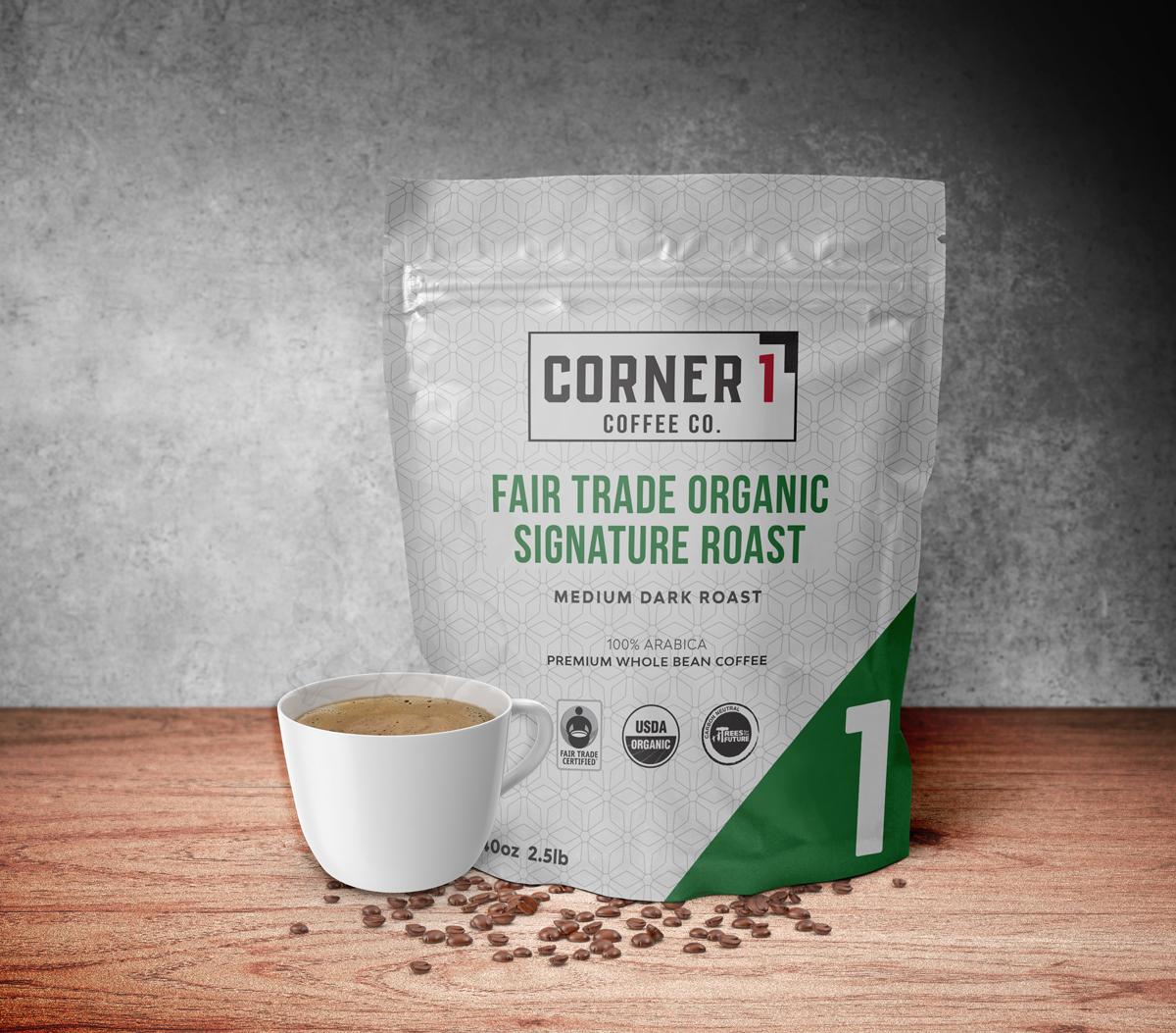 Fair Trade Organic Signature Roast Whole Bean Coffee